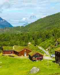 DNT-hytta Innerdalshytta i Trollheimen i Trøndelag