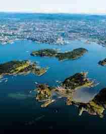 Islands in Oslo, Eastern Norway, in summer