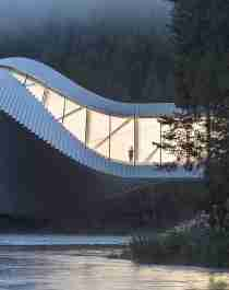 The Twist at the Kistefos Museum in Hadeland - Norway's new art destination - surrounded by dense forest