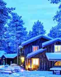 Historic hotel Herangtunet in Valdres in winter