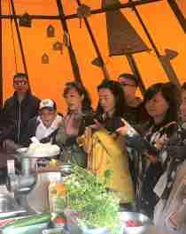 Kinesisk gruppe på Lian.