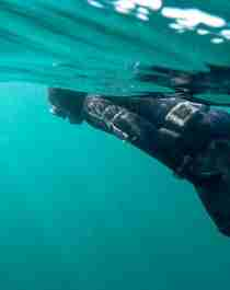 Man scuba diving in the sea