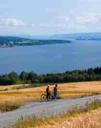 Plan your trip to the Gjøvik region in Eastern Norway and go cycling along Lake Mjøsa