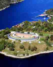 Oscarsborg fortress in Drøbak, Eastern Norway, one of several national fortresses