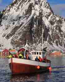 A fishing boat participating in The world cod fishing championship in Lofoten i Northern Norway