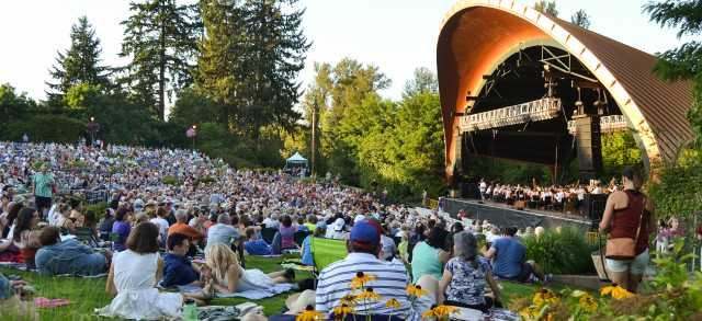 A summer evening at Cuthbert Amphitheater
