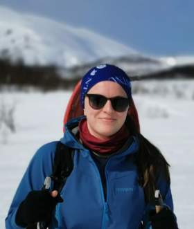Regine Igesund on a ski trip, Norway