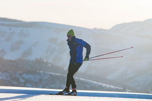 Skate Skiing on Groomed Trails in Round Valley