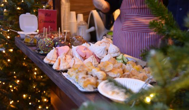 Christmas treats at the Christmas market Kristiansand in Southern Norway