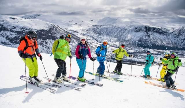 Alpinister i Myrkdalen på Vestlandet