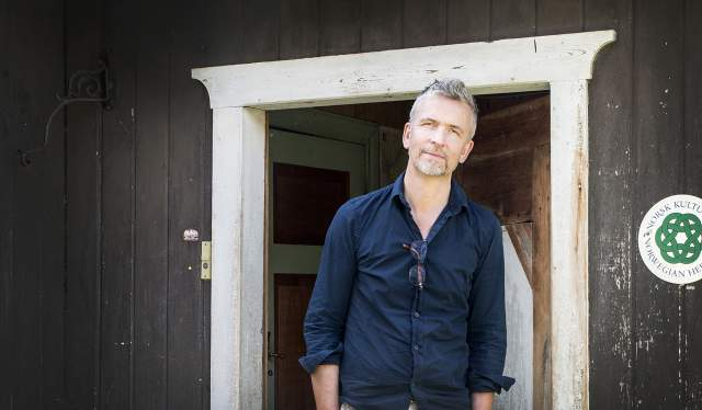 Erik Langdalen at Budsjord pilgrim farm, Eastern Norway