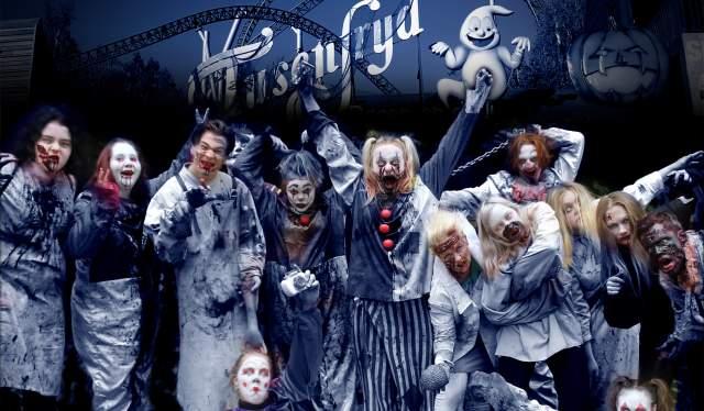 Zombiene som er klare til å ta imot deg for en skikkelig Halloween-feiring på TusenFryd utenfor Oslo på Østlandet