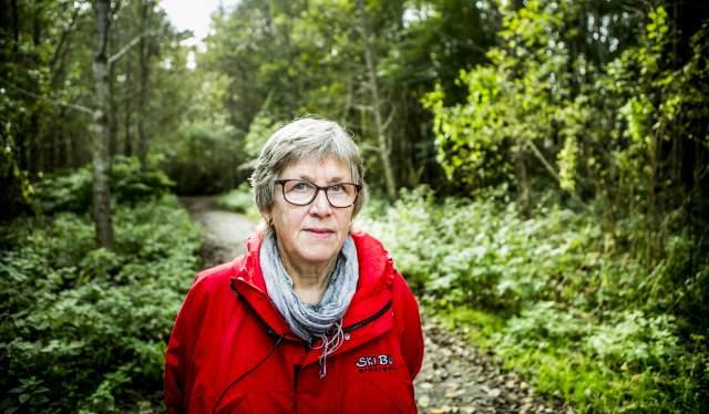 Bilde av Eva Madsen i skogen i Moss