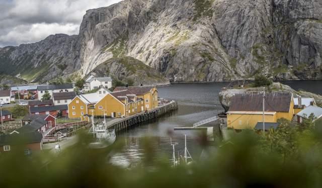 The fishing village Nusfjord in Lofoten, Northern Norway