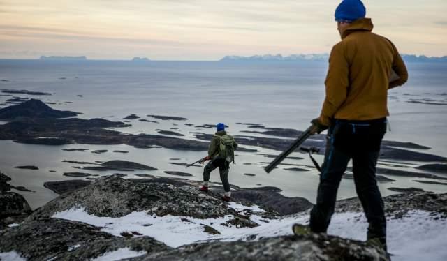 Et par på rypejakt i Steigen i Nordland, Nord-Norge