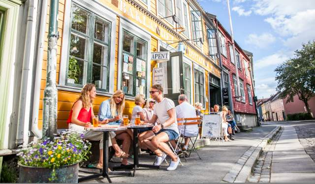 Restaurant Baklandet Skydsstation in Trondheim in Trøndelag