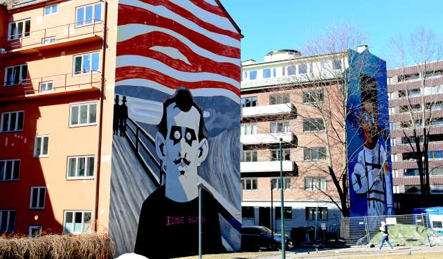 """Munch (2015)"" by Steffen Kverneland in the neighbourhood of Tøyen in Oslo, Eastern Norway"