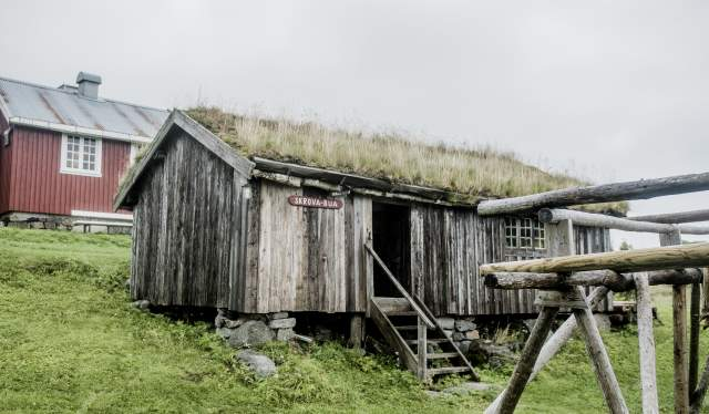 Old buildings at Lofoten Museum in Kabelvåg in Lofoten, Northern Norway