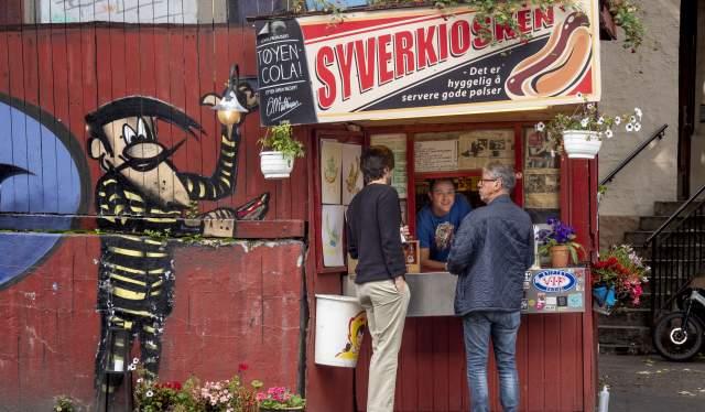 Syverkiosken hot dog kiosk Oslo Eastern Norway
