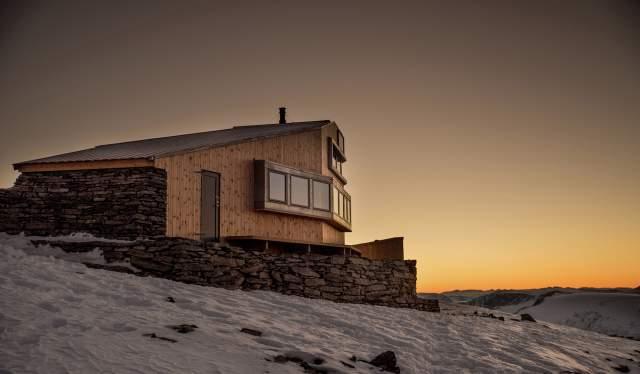 Skålabu DNT cabin at Mount Skåla in Nordfjord, Fjord Norway