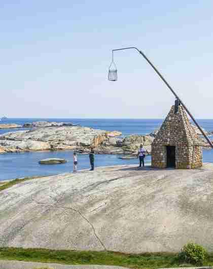 Vippefyret aan Verdens Ende, 'Het einde van de wereld', in het nationaal park Færder in Vestfold