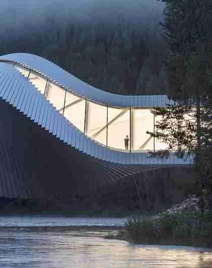 Bygningen The Twist på Kistefos-Museet på Hadeland