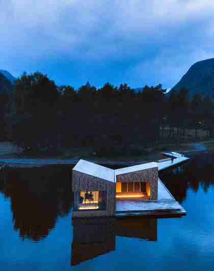 The Soria Moria Sauna in Telemark, Eastern Norway