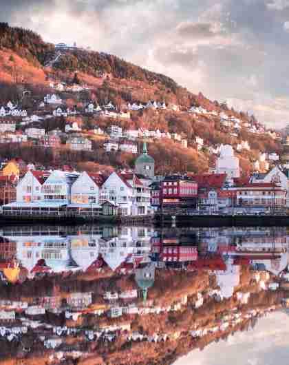Bryggen i Bergen ligger på Unesco's verdensarvliste