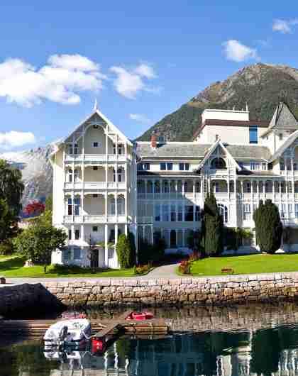 Historic Kviknes Hotel in Balestrand, Fjord Norway