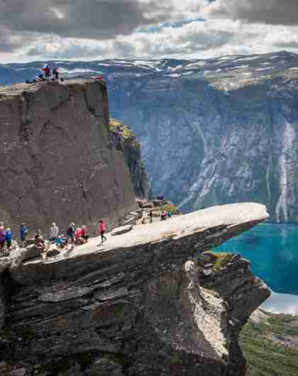 The trek to Trolltunga is one of the top hikes in Fjord Norway
