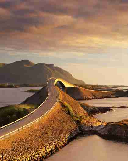The Atlantic Road in the Northwest, Fjord Norway.