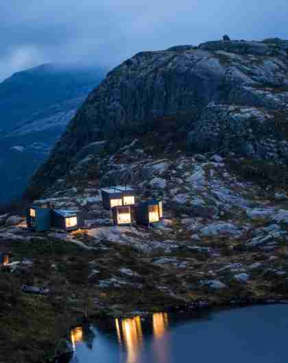Skåpet mountain cabin, one of many architectural cabins in Norway