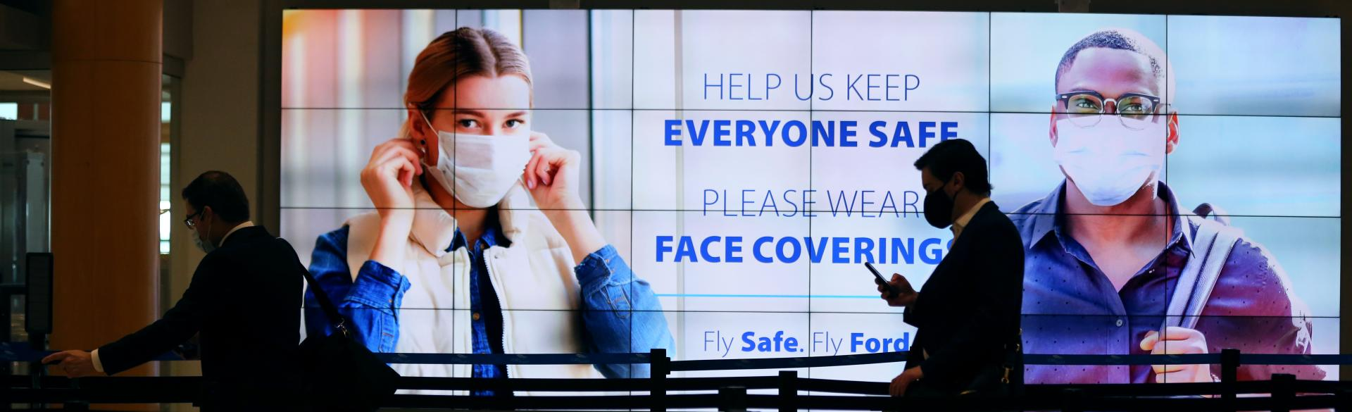 Fly Safe. Fly Ford. - Mask Sign