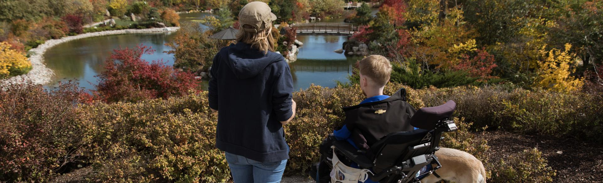 Viewing the The Richard & Helen DeVos Japanese Garden.