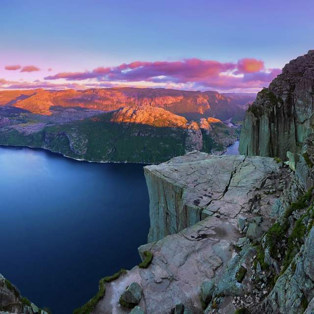 The Pulpit Rock and Lysefjorden in Fjord Norway