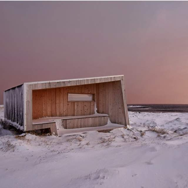 Birdwatching shelter Steilneset, Vardø, Northern Norway