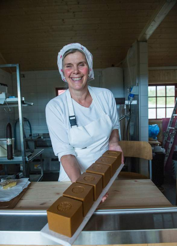 Brown cheese in Valdres