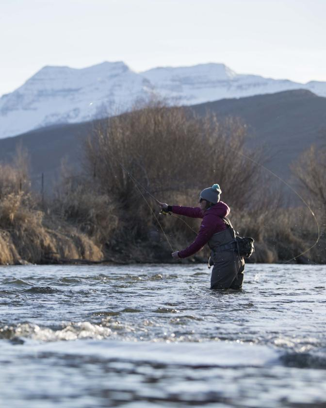 Year-round fishing on the Provo River.