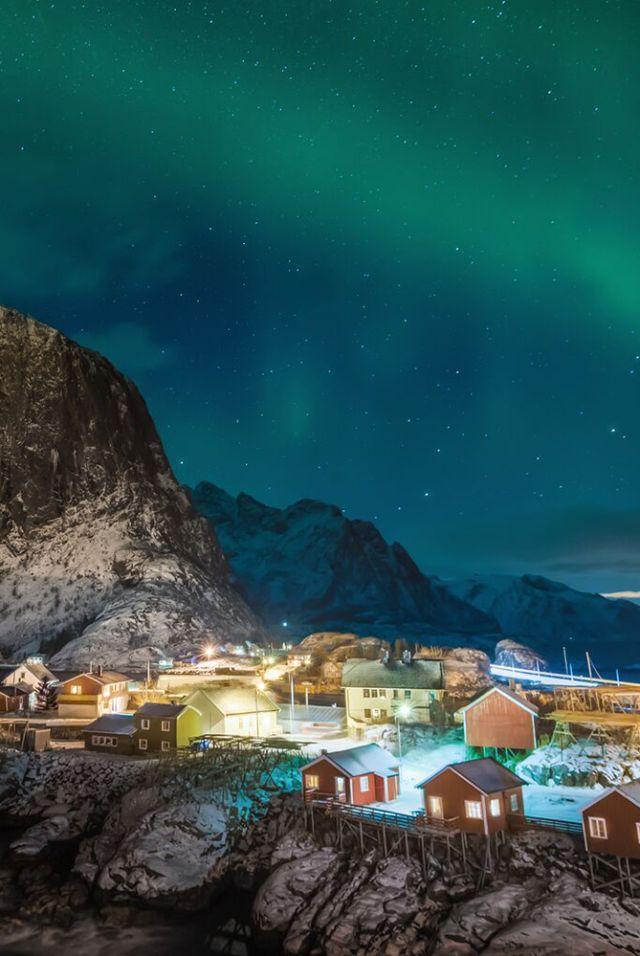 Northern Lights over the Lofoten Islands