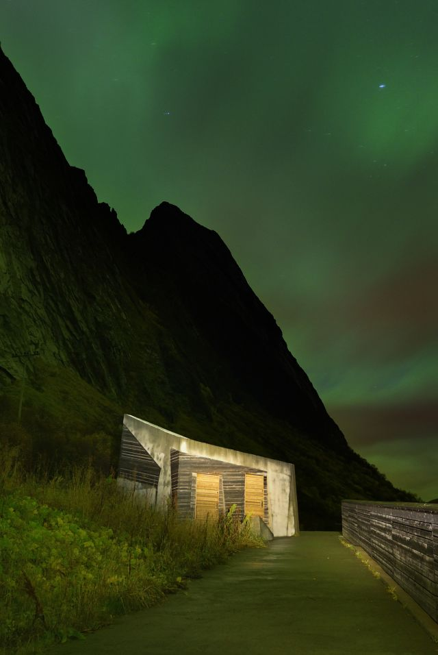Restroom at Tungeneset, Norwegian Scenic Route Senja in Northern Norway
