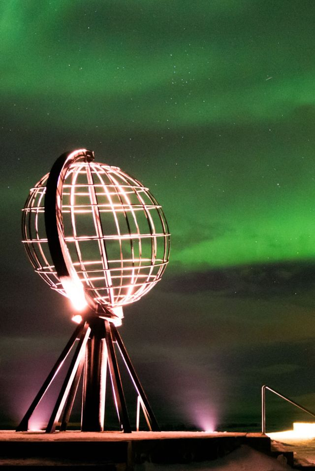Northern lights over Nordkapp