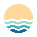 logo image of a son with waves making up the lower half of the circle