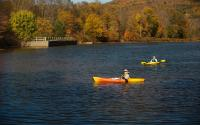 Kayaking on Lake Wawaka part of the East Branch of the Delaware River.