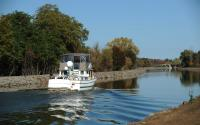 Boat on Erie Canal outside Gasport 1816