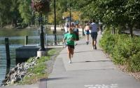 Running next to canal