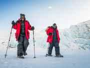 Walking to Portage Glacier on a snowy winter day.