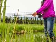 Alaska fishing with flyrod near Anchorage