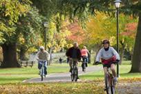 Cycling in Fall by Jamie Hooper