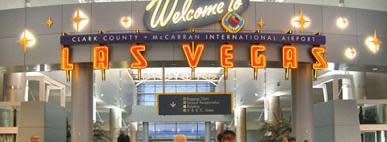 Welcome to Las Vegas sign at the airport