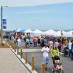 Tents and people at the Kure Beach Street Festival